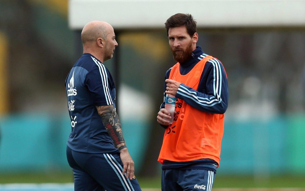 FILE PHOTO: Football Soccer - Argentina's national soccer team training - World Cup 2018 Qualifiers