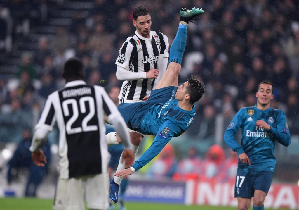 Cristiano chilena juventus real madrid