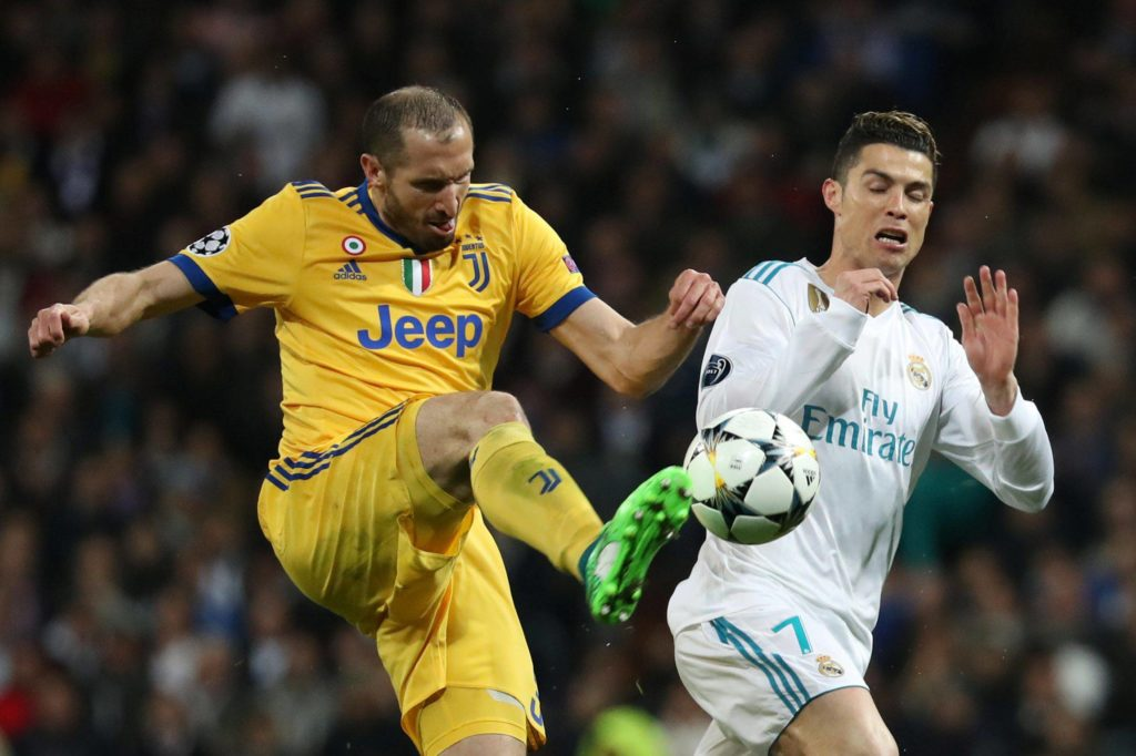 Chiellini Cristiano Real Madrid Juventus