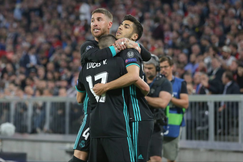Ramos Asensio Lucas Vázquez Real Madrid Bayern