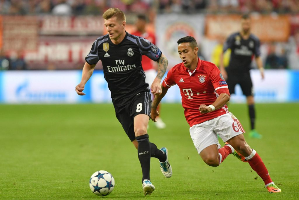 Der FC Bayern trifft im Champions League Halbfinale auf Real Madrid Archivfoto Toni KROOS Real Ma