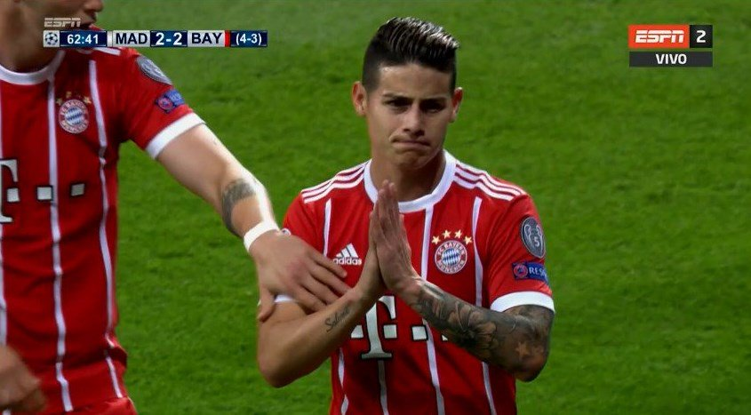James Rodríguez gol Real Madrid Bayern
