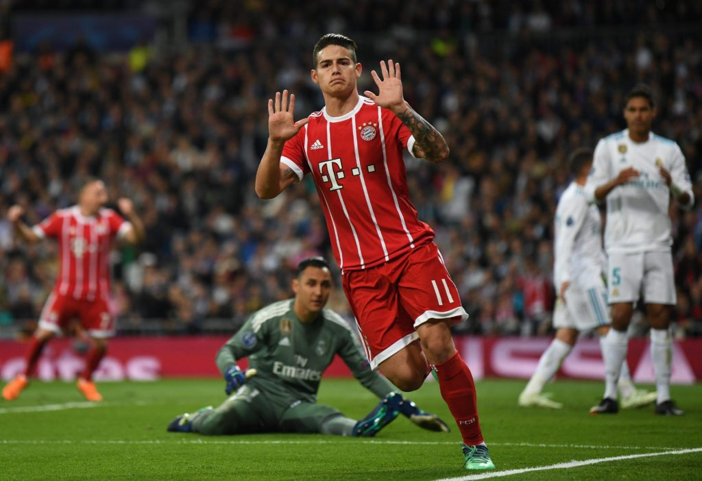 James Real Madrid Bayern