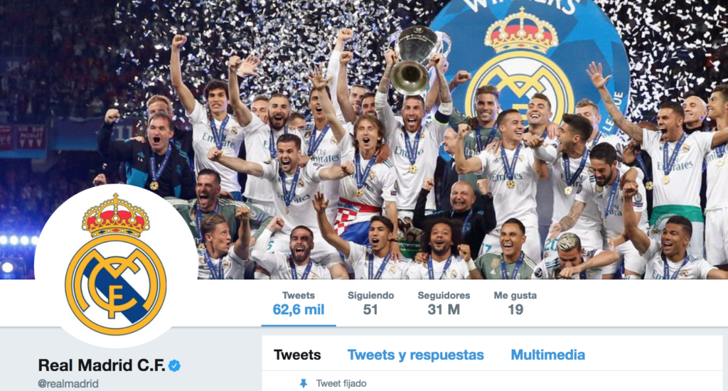 Real Madrid Twitter oficial