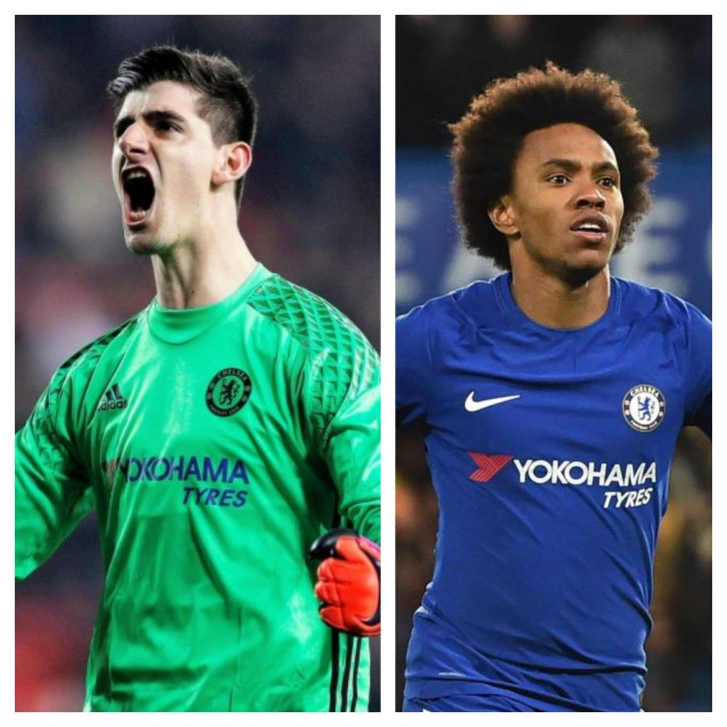 Courtois y Willian