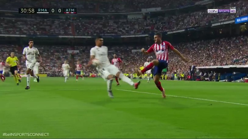 Casemiro mano penalti real madrid atletico