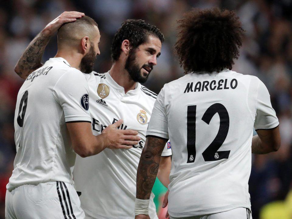 Isco Benzema marcelo Real Madrid