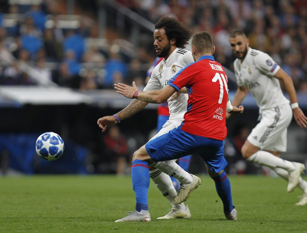 Marcelo Real Madrid Viktoria Plzen