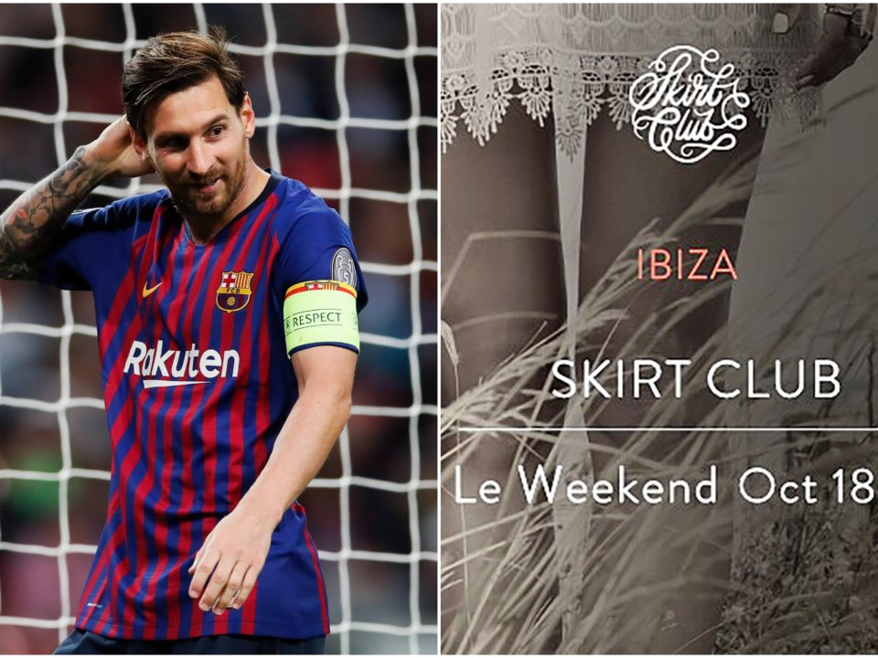 Messi fiesta sexual Ibiza