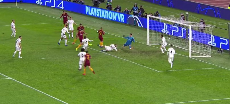 Courtois Roma Real Madrid