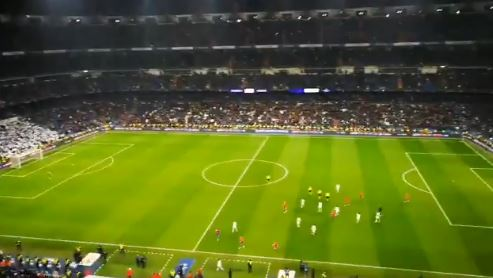 Pitos Bernabeu real madrid cska
