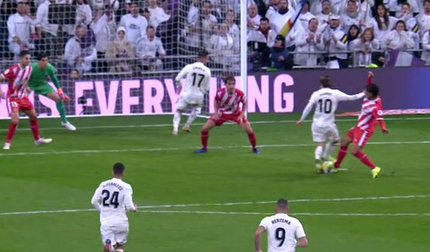 Penalti modric real madrid girona