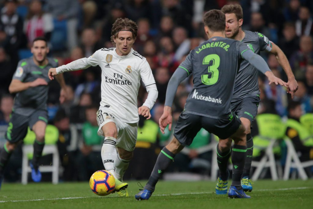 Modric Real Madrid Real Sociedad