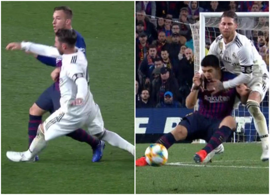 Ramos expulsion barça real madrid