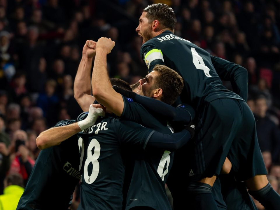 Real Madrid celebracion gol ajax