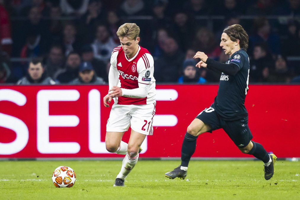 De Jong Modric Ajax Real Madrid