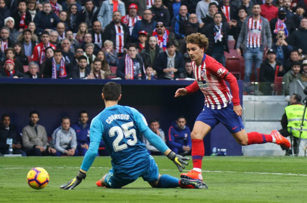 Griezmann Courtois Atletico Real Madrid