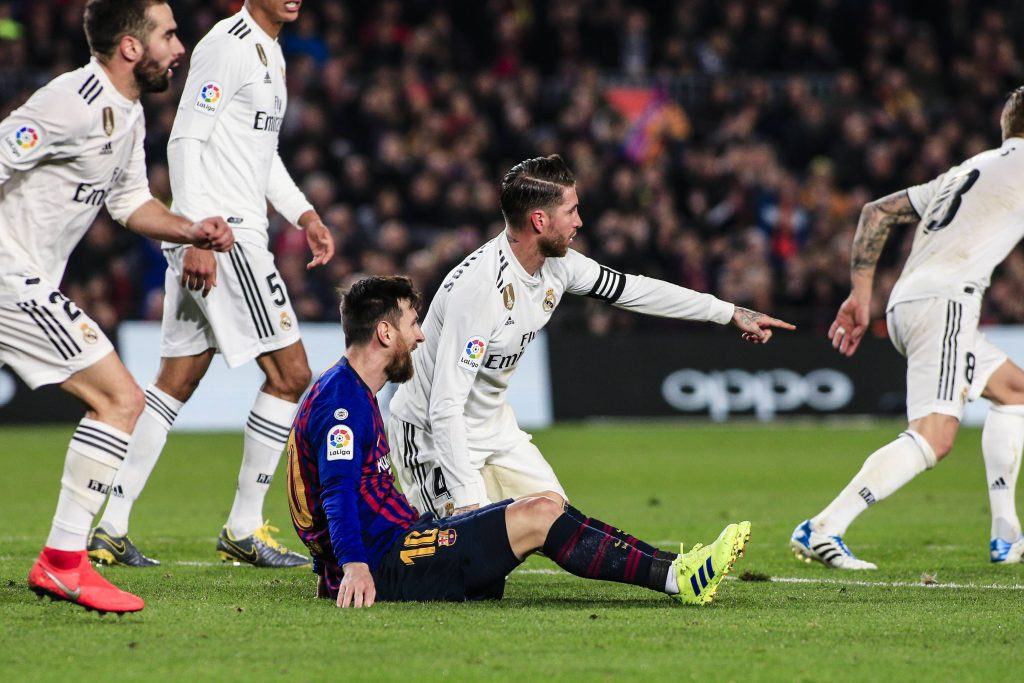 Barcelona Real Madrid Messi Sergio Ramos