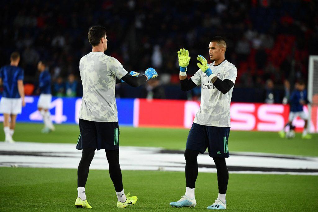 Courtois Areola Real Madrid