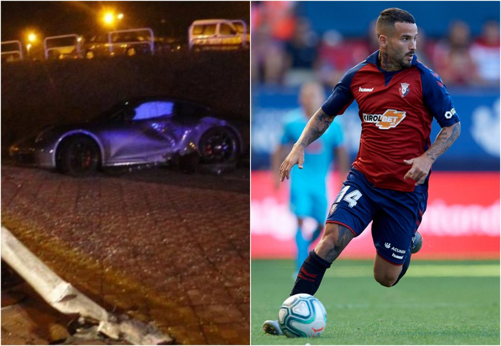 Ruben Garcia osasuna accidente coche