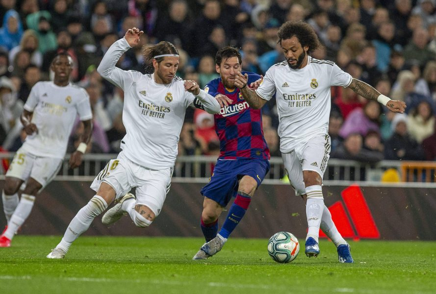 Real Madrid Barcelona Liga Messi Ramos Marcelo
