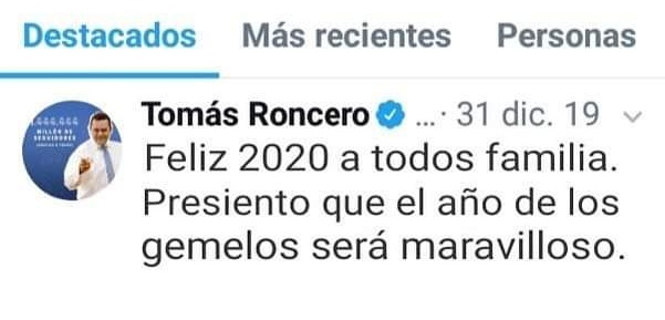 Roncero 2020 twitter