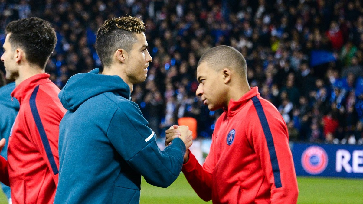 Cristiano Ronaldo Real Madrid Kylian Mbappe PSG FOOTBALL Paris Saint Germain vs Real Ma