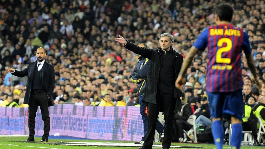 Dani Alves Mourinho Guardiola Real Madrid Barcelona