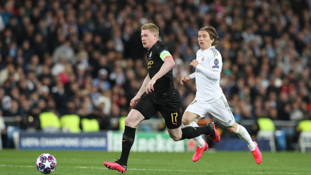 Manchester City Real Madrid Modric De Bruyne