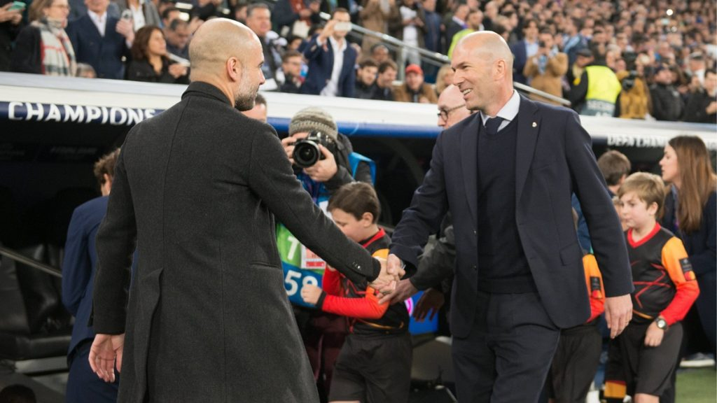 Zidane Guardiola Real Madrid Manchester City