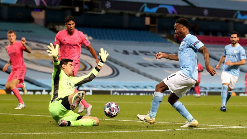 Sterling Courtois Manchester City Real Madrid