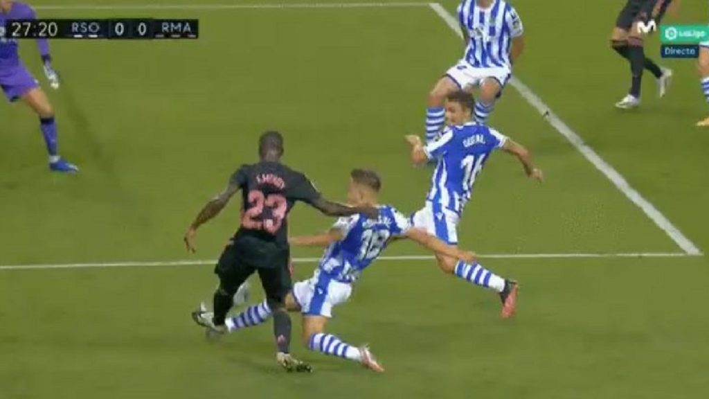 Penalti mendy real sociedad real madrid