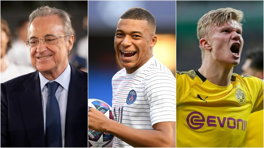 Florentino Perez Mbappe Haaland Real Madrid