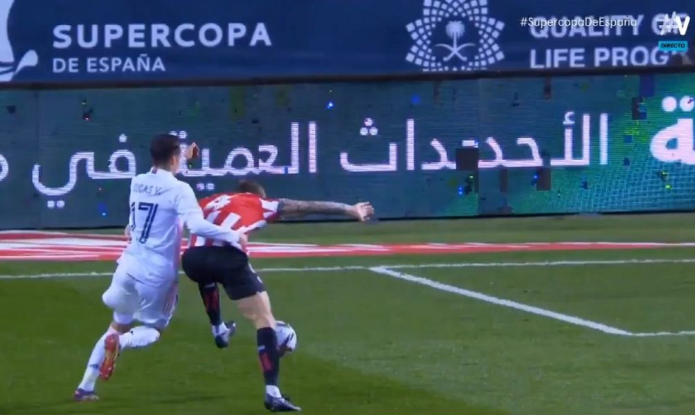 Lucas Vázquez penalti Athletic Real Madrid Supercopa